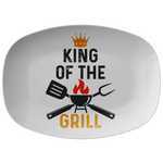 King of the Grill BBQ Grilling Platter Gift for Men Dad Grandpa