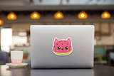 Kawaii Watermelon Cat Vinyl Decal Sticker