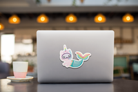 Mermaid Unicorn Cat Caticorn Vinyl Decal Sticker
