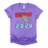 Screw 2020 Funny Pissed Off Cat Shirt for Men and Women
