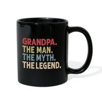 Grandpa the Man the Myth the Legend Full Color Mug - black