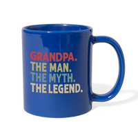 Grandpa the Man the Myth the Legend Full Color Mug - royal blue
