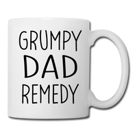 Grumpy Dad Remedy Mug for Men - white