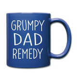 Grump Dad Remedy Funny Mug for Men - royal blue
