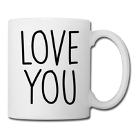 Love You Coffee Mug - white