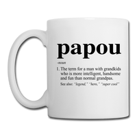 Papou Definition Coffee/Tea Mug - white