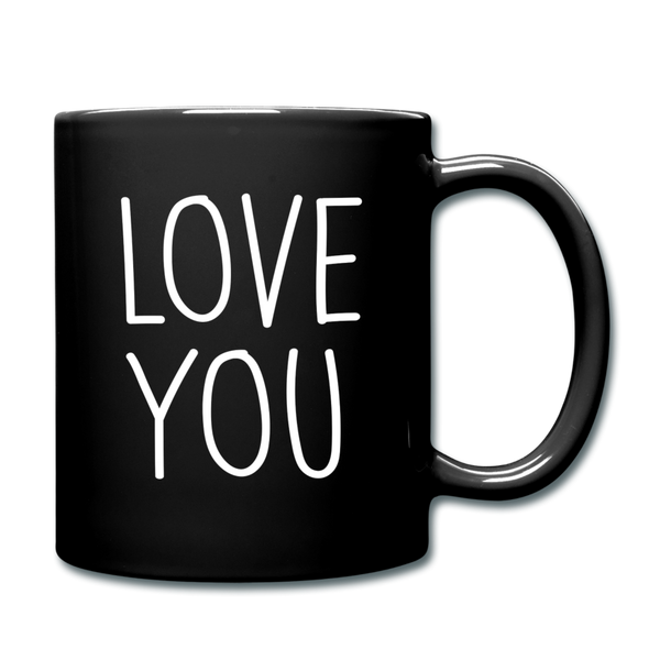 Love You Coffee Mug - black