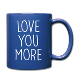 Love You More Black and White Mug - royal blue