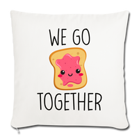 "We Go Together Throw Pillow Cover 18"" x 18"" - natural white"