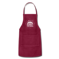 May I Suggest the Sausage Funny Adjustable BBQ Grilling Apron with Pockets for Men - burgundy
