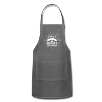 May I Suggest the Sausage Funny Adjustable BBQ Grilling Apron with Pockets for Men - charcoal