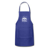 May I Suggest the Sausage Funny Adjustable BBQ Grilling Apron with Pockets for Men - royal blue
