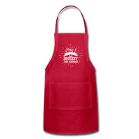 May I Suggest the Sausage Funny Adjustable BBQ Grilling Apron with Pockets for Men - red