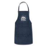 May I Suggest the Sausage Funny Adjustable BBQ Grilling Apron with Pockets for Men - navy