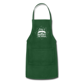 May I Suggest the Sausage Funny Adjustable BBQ Grilling Apron with Pockets for Men - forest green