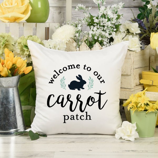Welcome to Our Carrot Patch Pillow or Pillow Cover with Insert 16x16 18x18 20x20 26x26 |