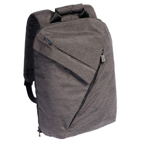 Quirky Power Trip Laptop Backpack (Color Dark Gray) with Three Wired Charging USB Ports