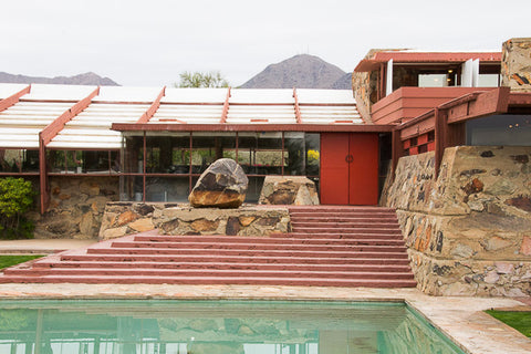 A front entrance to Taliesin West Frank Lloyd Wright Georgina Sonmor