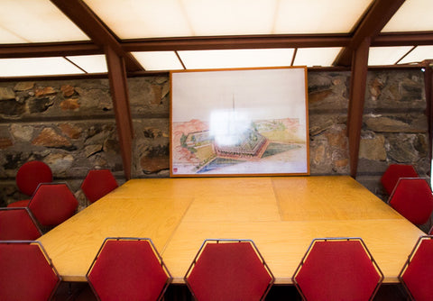 Presentation Table Frank Lloyd Wright's Taliesin West Georgina Sonmor Photograph