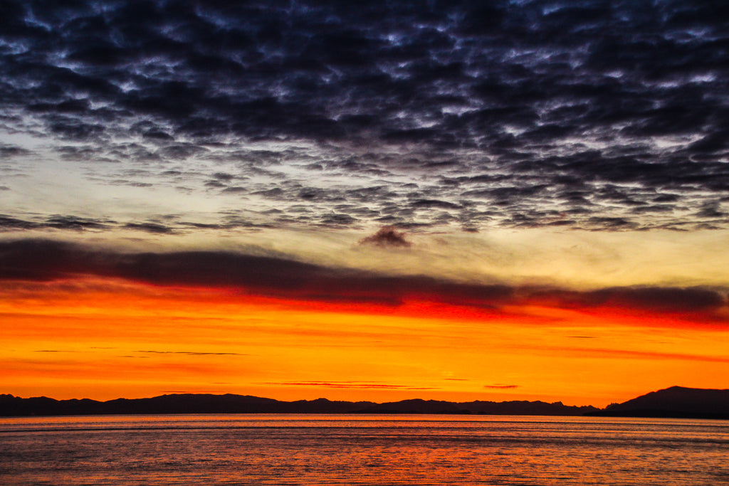 Sunset over the Georgia Strait BC Photograph by Georgina Sonmor
