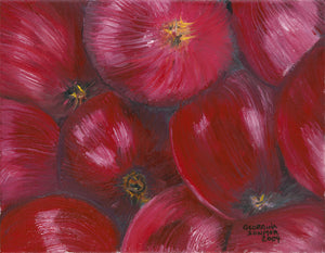"Canvas Giclée Print of Bounty of Apples Original Oil Painting 2004 (16"" X 24"")"