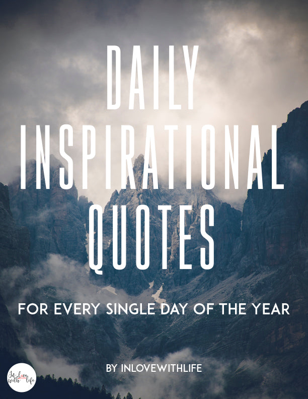 Daily inspirational quotes for every single day of the year