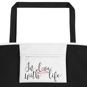 Enjoy your day, what else is there to do? by in love with life, bag, black handle, inside pocket