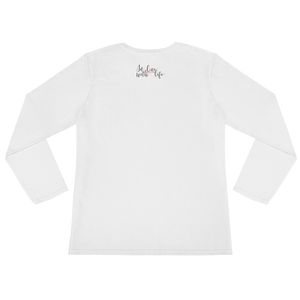 And what are you grateful for? by in love with life, white long sleeve ladies, back