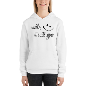 Smile it suits you by In love with life, hoodie/ sweatshirt ladies white