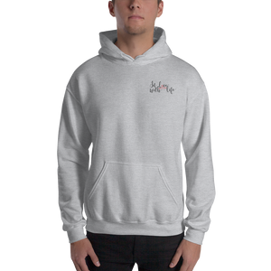 In love with life by In love with life, hoodie/ sweatshirt grey gentlemen, small logo in love with life