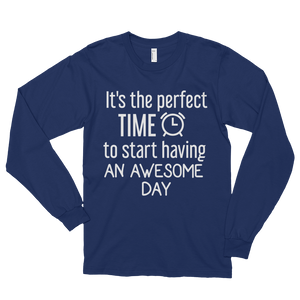 It's the perfect time to start having an awesome day by in love with life, navy blue long sleeve gentleman
