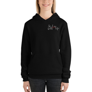 In love with life by In love with life, hoodie/ sweatshirt ladies, black, small logo in love with life