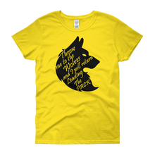 Throw me to the wolves and I will return leading the pack by in love with life, yellow short sleeve ladies