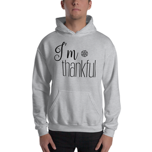 I'm thankful by in love with life, hoodie/ sweatshirt gentlemen grey