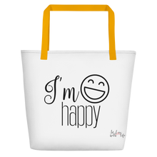 I'm happy by in love with life, bag, yellow handle