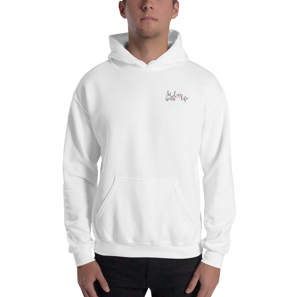 In love with life by In love with life, hoodie/ sweatshirt white gentlemen, small logo in love with life