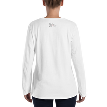 I'm happy by in love with life, ladies long sleeve back