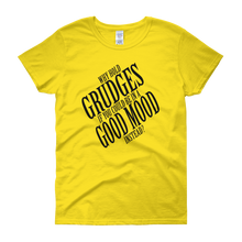 Why hold grudges if you could be in a good mood instead? by in love with life, yellow short sleeve ladies