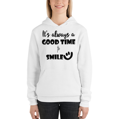 It's always a good time to smile by In love with life, hoodie/ sweatshirt ladies white
