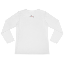 I am grateful by in love with life, white long sleeve ladies back