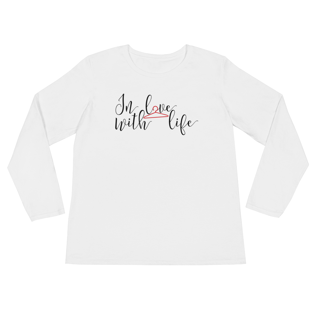 In love with life by in love with life, white long sleeve ladies