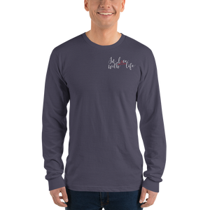 In love with life by In love with life, long sleeve shirt gentlemen, asphalt, small logo in love with life