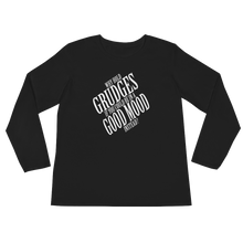 Why hold grudges if you could be in a good mood instead? by in love with life, black long sleeve ladies front