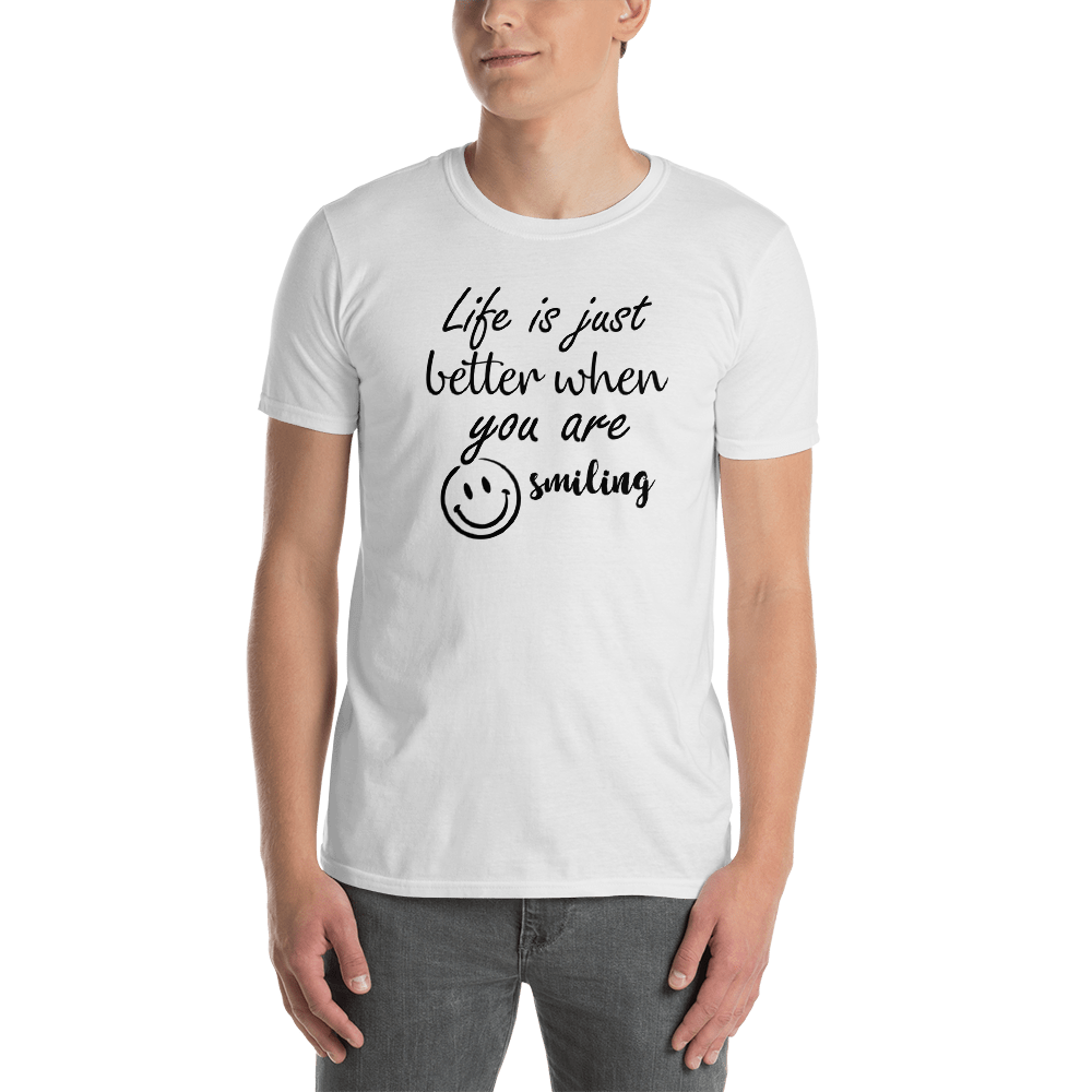 Life is just better when you are smiling by In love with life, short sleeve/ shirt gentlemen