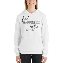 Find happiness in the details by In love with life, hoodie/ sweatshirt ladies white