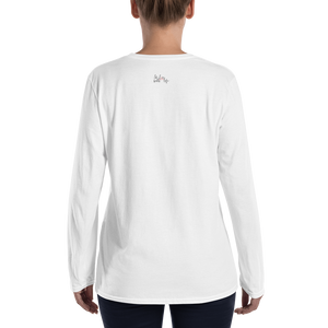Life is just more fun when you are smiling by In love with life, ladies long sleeve back