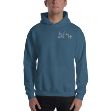 In love with life by In love with life, hoodie/ sweatshirt indigo blue gentlemen, small logo in love with life