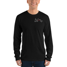 In love with life by In love with life, long sleeve shirt gentlemen, black, small logo in love with life