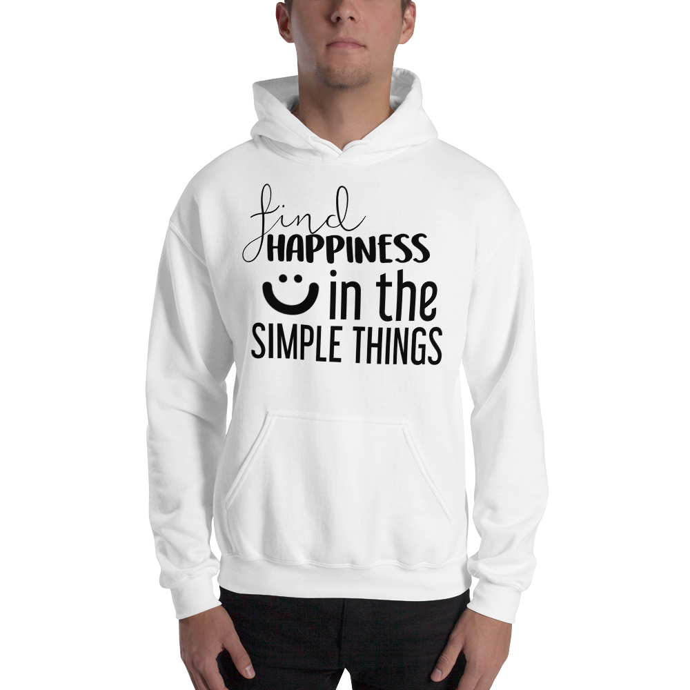 Find happiness in the simple things by In love with life, hoodie/ sweatshirt gentlemen white