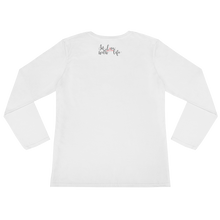 Give every day the chance to become better than the last by in love with life, white long sleeve ladies back